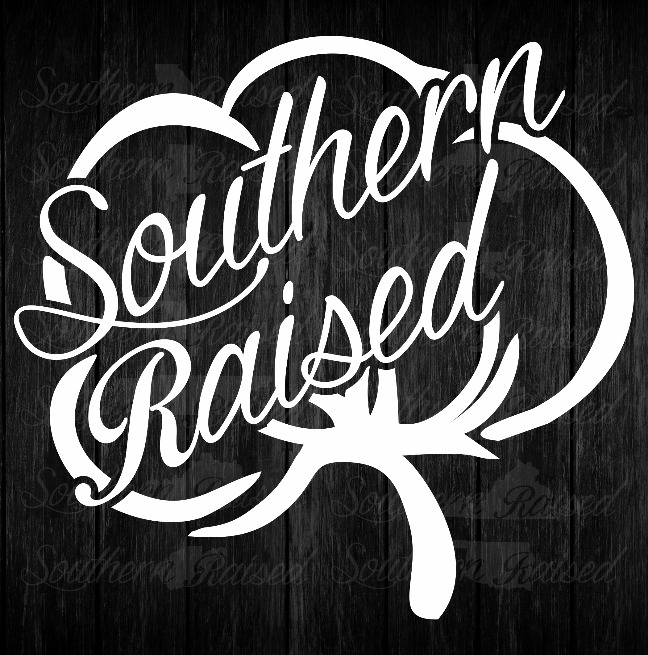 Southern Raised Square Cotton Decal Bad Bass Designs