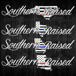 0543ce65200 Southern Raised Blue and Red Line American Flag Decals